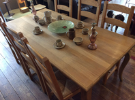 Solid Oak French Style Dining  Table